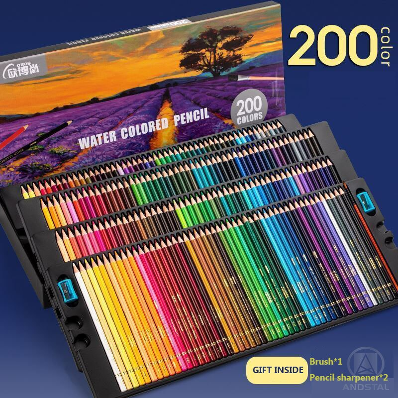 AliExpress - 200 Andstal Professional Oil Colors Pencils Water Color Pencil Wood Colored Pencils for School Draw Sketch Art Supplies