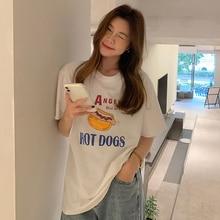 2021 Summer New All-Matching Printed Short Sleeved T-shirt Plus Size Korean Clothes Women Tshirt Str