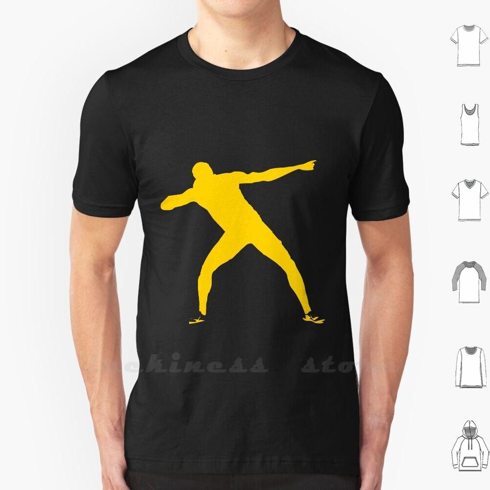 Usain Bolt-Camiseta de algodón para hombre y mujer, camisa de gran tamaño,...
