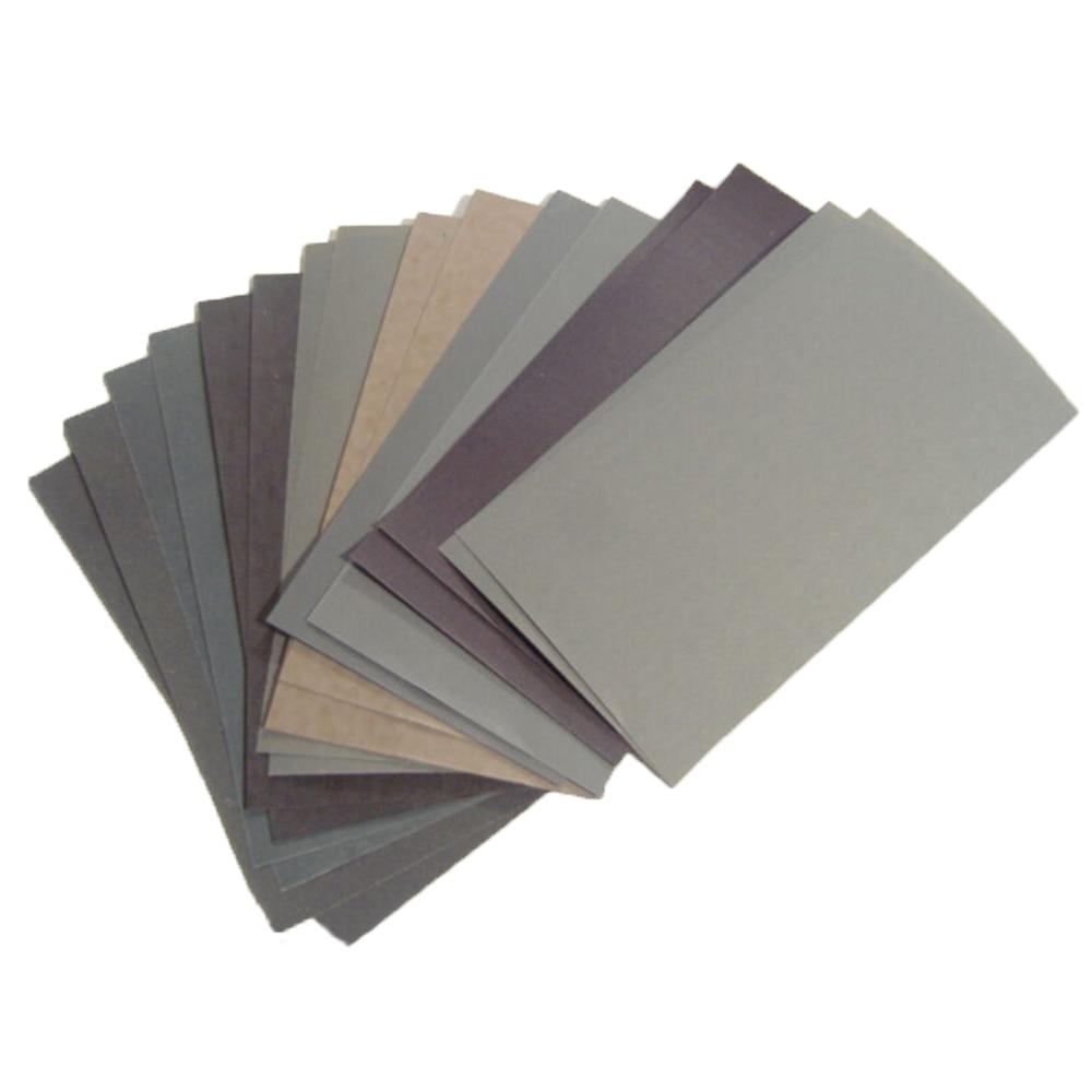 Sandpapers 400, 600, 3000, 800, 1000, 1200, 1500, 2000, 2500 granos húmedo/Seco 15 piezas de mantenimiento de coche pintura cuidado