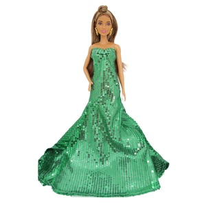 Evening Dress Outfits BJD Doll Dress Clothes for Barbie  Accessories Play House Dressing Up