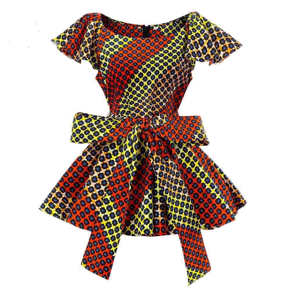 Африканская женская блузка с модным принтом, вощеная африканская традиционная одежда, Женская африканская модная летняя рубашка с принтом ...