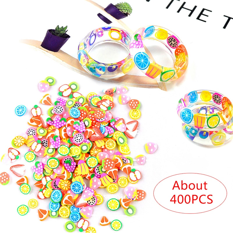 Mezcla de rebanadas de fruta para uñas, rellenos de arcilla de animales, para decoración de uñas, pastel, flor, resina, molde epoxi, relleno para anillos DIY, accesorios de joyería
