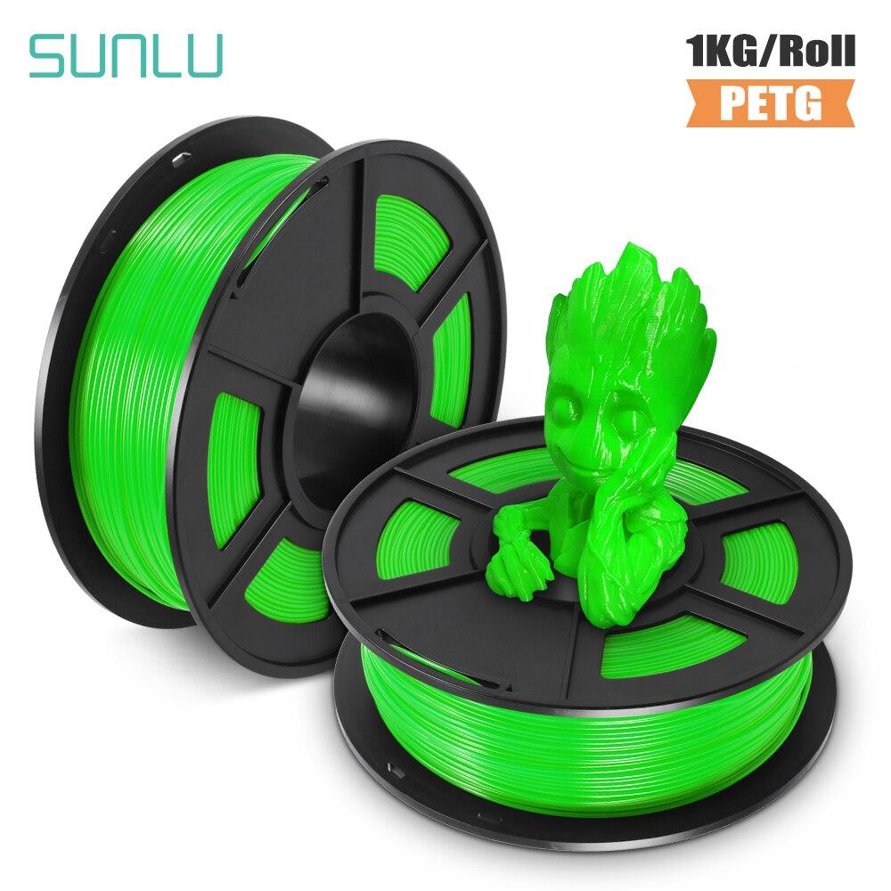 SUNLU PETG 3D Printer Filament 1.75mm 1KG/2.2LB Spool PET Printer Material 100% no bubble Tolerance +-0.02MM 3д принтер пластик