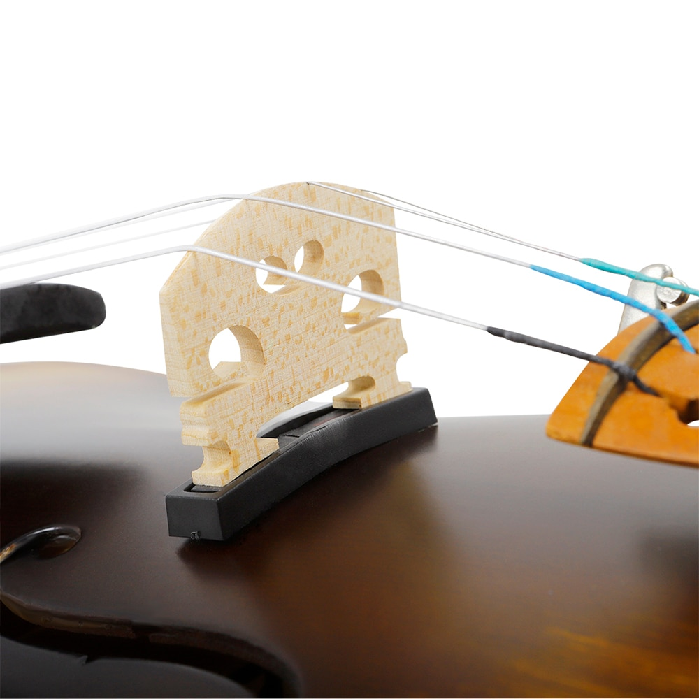 Professional 4/4 Acoustic Violin Matte EQ Electric Acoustic Violin Fiddle With Case Bow Solid Wood Violin For Beginner Students enlarge