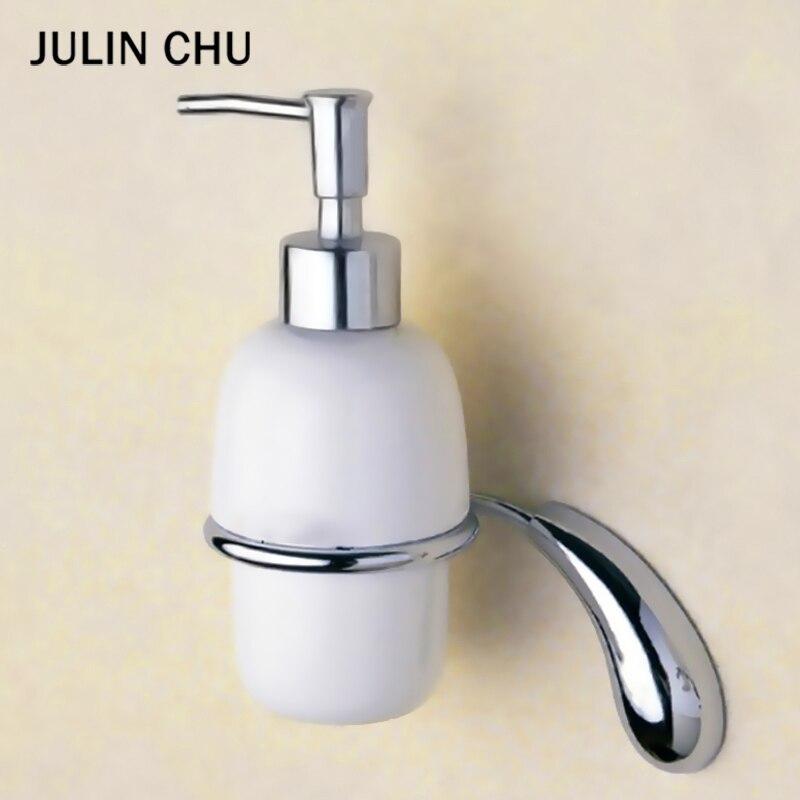 السيراميك موزع الصابون السائل الكروم الحائط النحاس غسل اليد المطبخ الحمام شامبو استحمام موزع المنظفات حامل