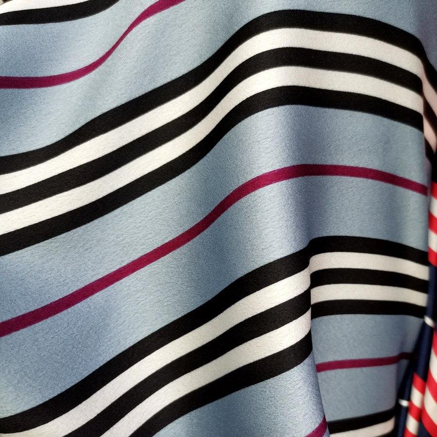 Streifen Kleid Stoff Satin Crepe Weichen Dropping Stoff Für Kleid pyjamas Glänzend Material Charmeuse DIY Gewebe Band Stoff