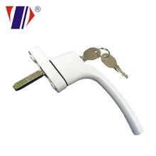 Poignée de verrouillage de porte en PVC   À battement, avec serrure de porte