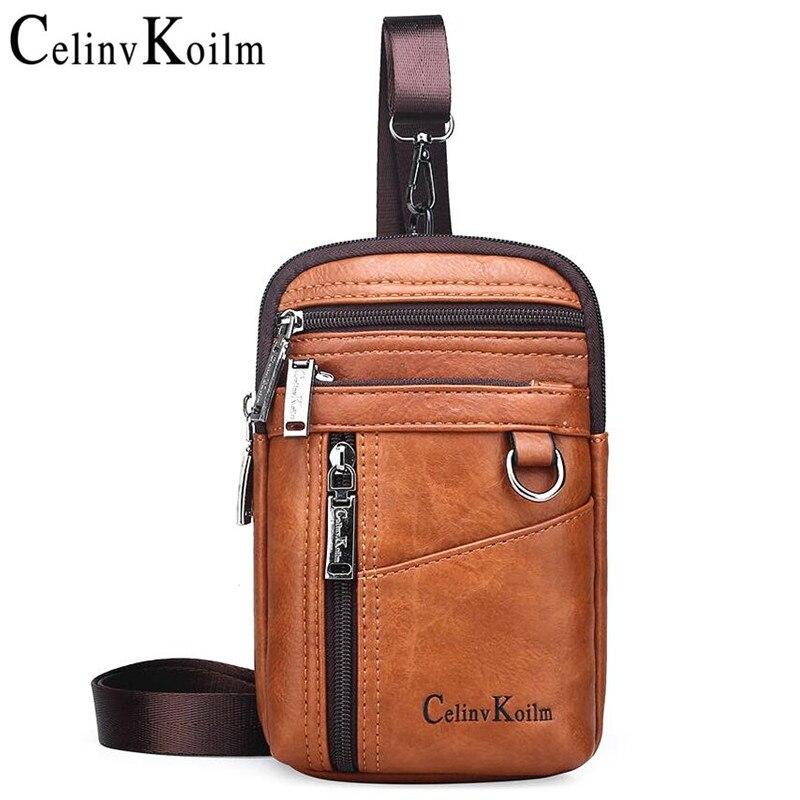 Celinv Koilm marka mała wielofunkcyjna torba Crossbody kurierska mężczyźni plecaki na ramię nogi saszetki na pas dla mężczyzny Unisex Casual nowy