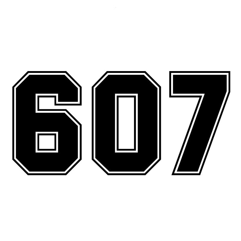 SF20056 # номер 607 смешные виниловая Автомобильная наклейка светоотражающая Водонепроницаемый автомобильные наклейки на автомобиль грузовик ...