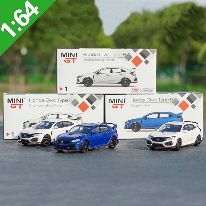 1: 64 TSM modelos Honda Civic Tipo R Diecast modelo coche MINI GT Diecast Metal juguetes regalo de cumpleaños para niños
