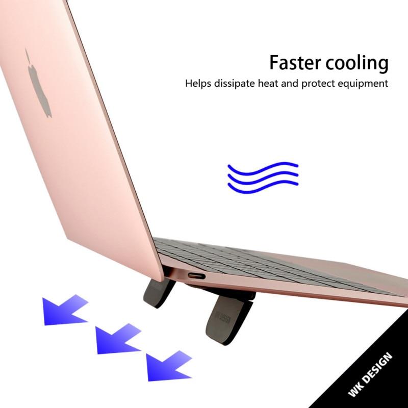 1 pares Mini teléfono sostenedor de la tableta, portátil de refrigeración soporte plegable portátil Dest soporte de Base etiqueta viaje Rack Smartphone