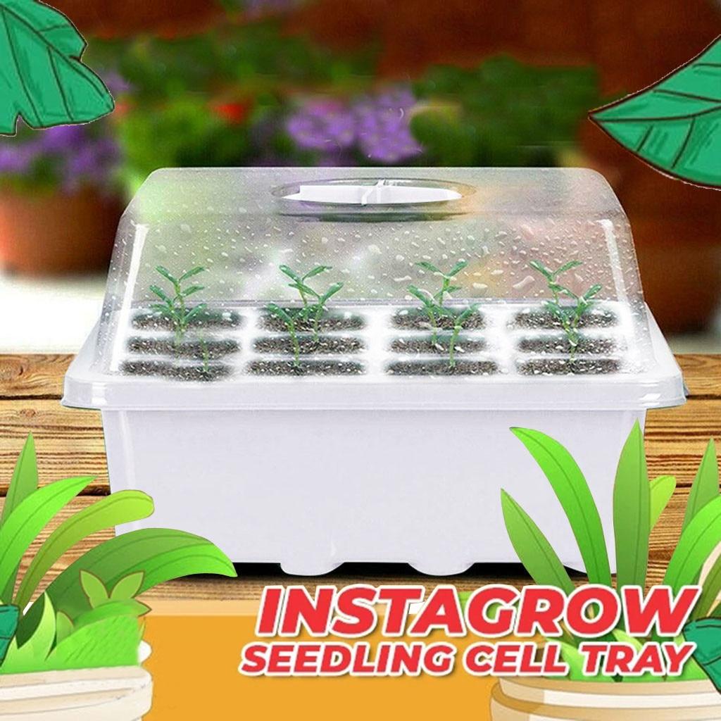 Ящик для выращивания семян зеленых растений, новый съемный поднос для рассады с 12 отверстиями, горячая Распродажа, поднос для сада, горшки д...