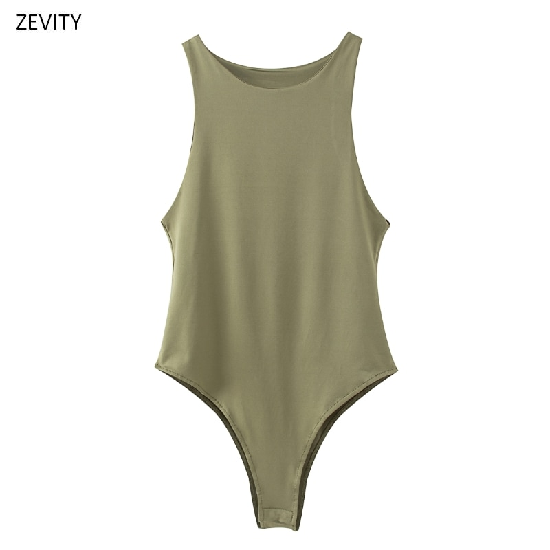 aliexpress.com - New 2020 Women sexy sleeveless solid color slim bodysuits female chic o neck soft blouse brand office wear playsuits tops LS6718