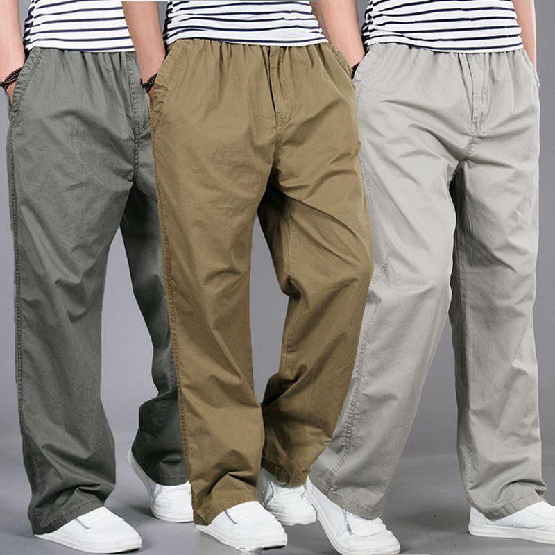 Pantalones de Harem tactica de marca para hombres, pantalones holgados de algodón para verano 2018, pantalones para hombre, pantalones deportivos de talla grande, pantalones para hombres, pantalones para correr