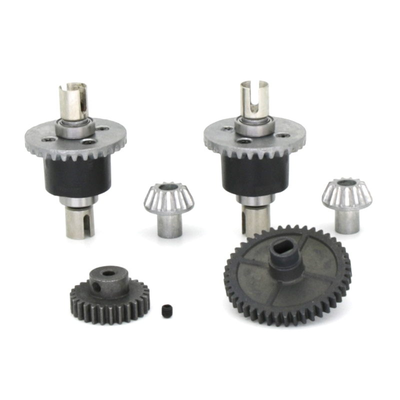 RC Metal Upper Lower Gearbox Housing Differential Gear for WLTOYS 144001 1/14 RC Car Buggy Upgrade Parts enlarge