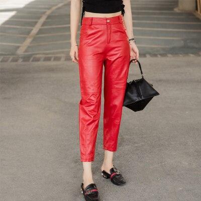 MESHARE New Fashion Genuine Sheep Leather Pants BP45