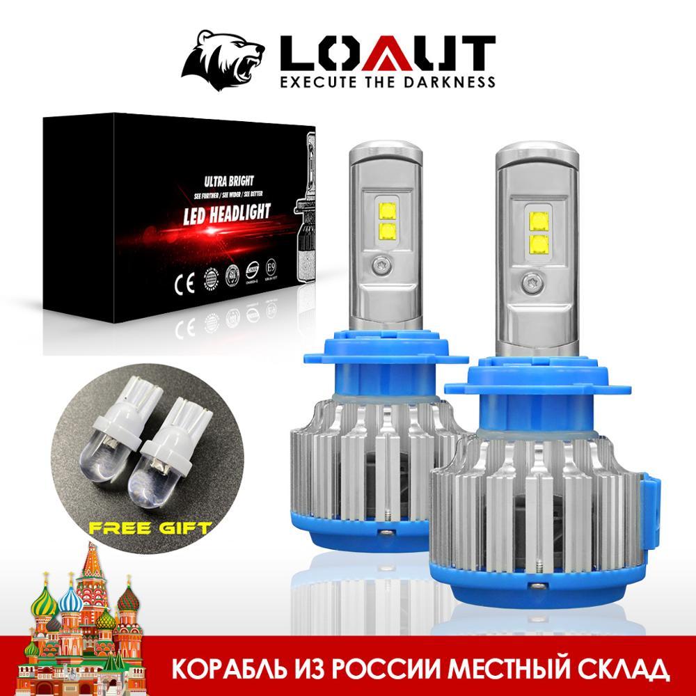 LOAUT LED T1 Turbo Auto Scheinwerfer H7 H4 LED H8/H11 9005 9006 H1 H3 9012 H13 9004 9007 70W 7000lm Auto Led-lampe Scheinwerfer Licht Russland