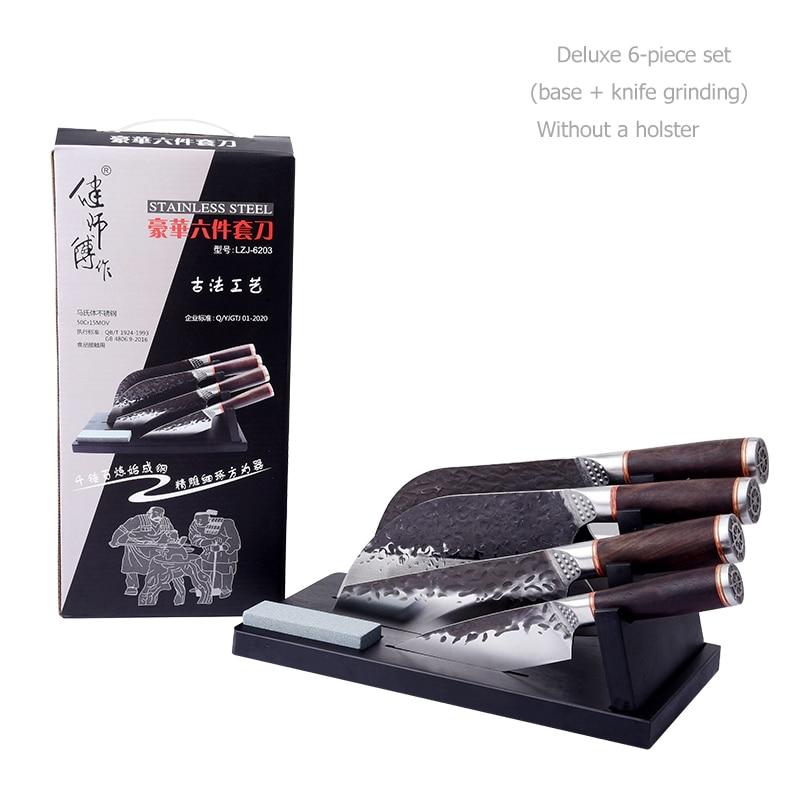 Chian سكاكين المطبخ جزار الشيف السكاكين 5Cr15 الفولاذ المقاوم للصدأ المطبخ الساطور السكاكين قطع اللحوم الخضار تقطيع سكين الطاهي