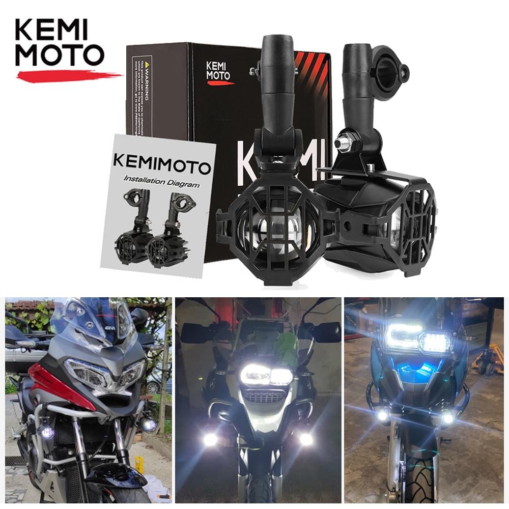 Светодиодные противотуманные фары для мотоциклов Honda Africa Twin CRF1000L NC700X, для BMW F800GS F850GS, аксессуары, вспомогательная сборка