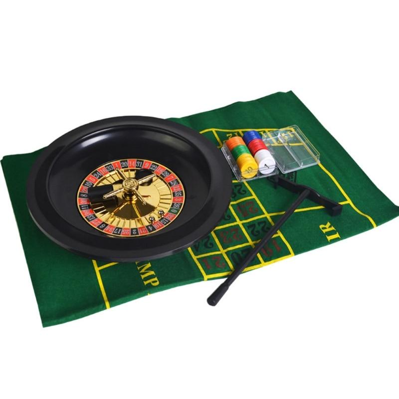 10-дюймовая рулетка, набор игр, рулетка для казино, рулетка с настольной тканью, покерные чипы для бара, KTV, вечеринки, игра Borad-1