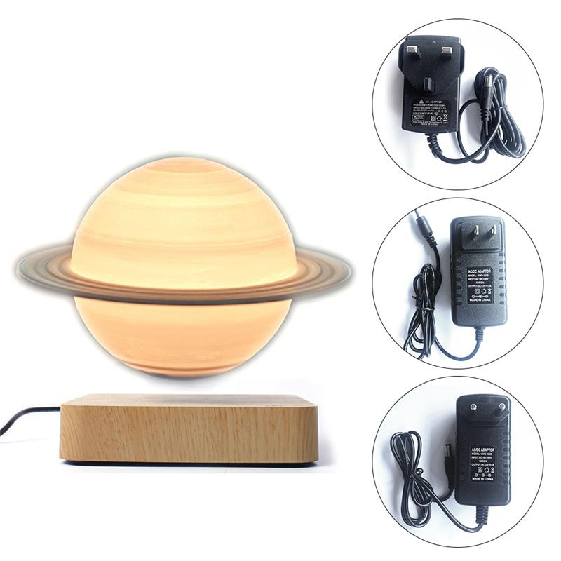 Magnetic Levitation Floating Night Light Saturn Lamp Rotate Decorative Levitating Lamp Novelty Ball Light Table Lamp Home Decor enlarge
