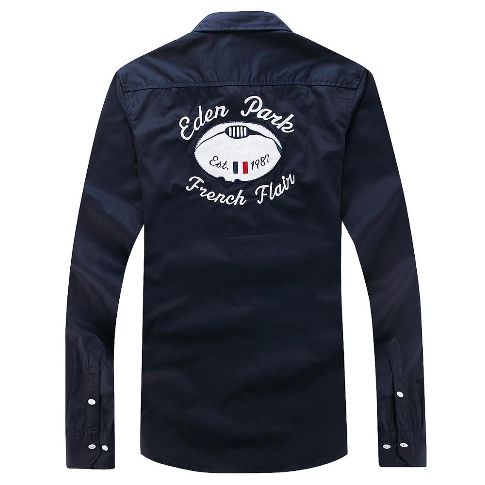 Новинка, Eden Homme Chemise, простая, деловая, повседневная, во французском стиле, красивая, ручная работа, парка, мужская рубашка из хлопка, мужская рубашка, большой размер M-XXL