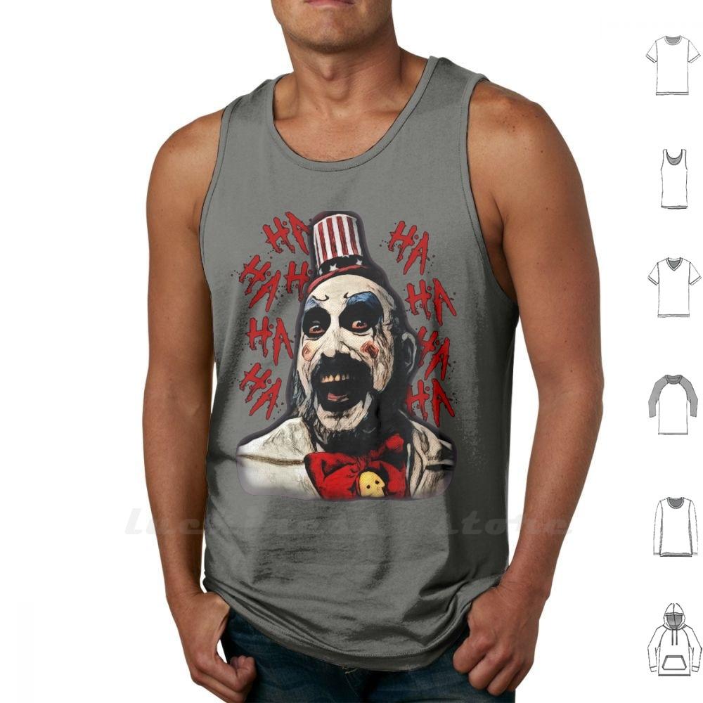 Camiseta sin mangas de capitán Spaulding de algodón con la casa del capitán Spaulding de 1000, demonios de terror de los cuerpos rechaza a Rob Zombie