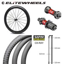 Roue de vélo en carbone haut de gamme DT240S /DT350S moyeu Sapim cx-ray a parlé 700c roues de vélo de route 38mm 50mm 60mm 88mm pneu tubulaire