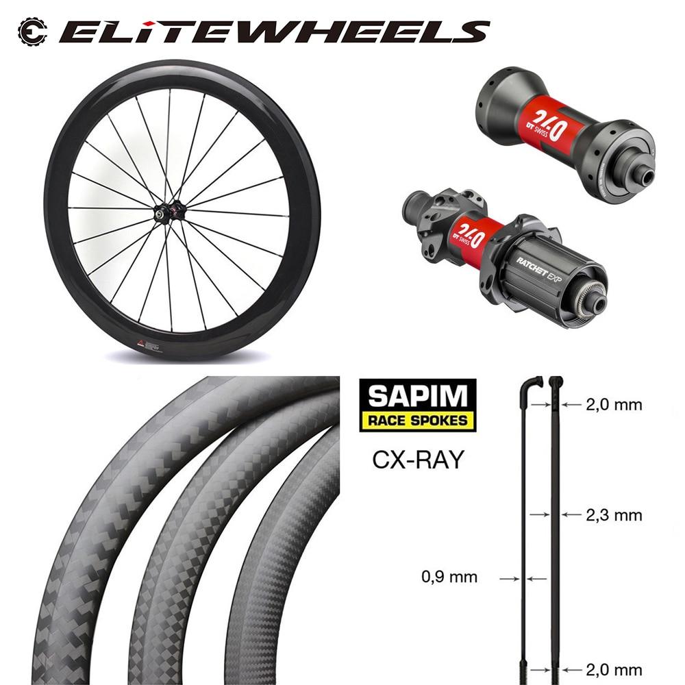 High-end carbono roda de bicicleta dt240s/dt350s hub sapim cx-ray falou 700c estrada bicicleta rodado 38mm 50mm 60mm 88mm clincher tubular