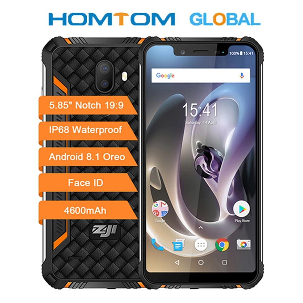 Homtom-teléfono inteligente ZOJI Z33, teléfono móvil resistente MT6739 1,3 GHZ, Quad Core, 3GB RAM, 32GB rom, batería de 4600mAh, dual-sim, Android 5,85 OTA, OTG, desbloqueo facial