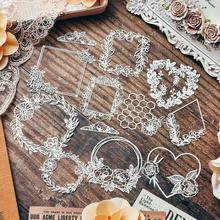 Garland Heart Frame Lace Paper Placemats Wedding Party Decoration Supplies Scrapbooking DIY Journal Crafts Paper Albums