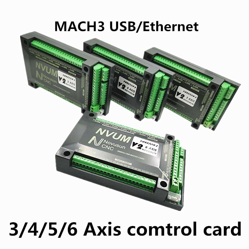 Tarjeta Ethernet /USB Mach3 200KHz CNC router 3 4 5 6 Axis Tarjeta de Control de movimiento tablero de ruptura para máquina de grabado diy