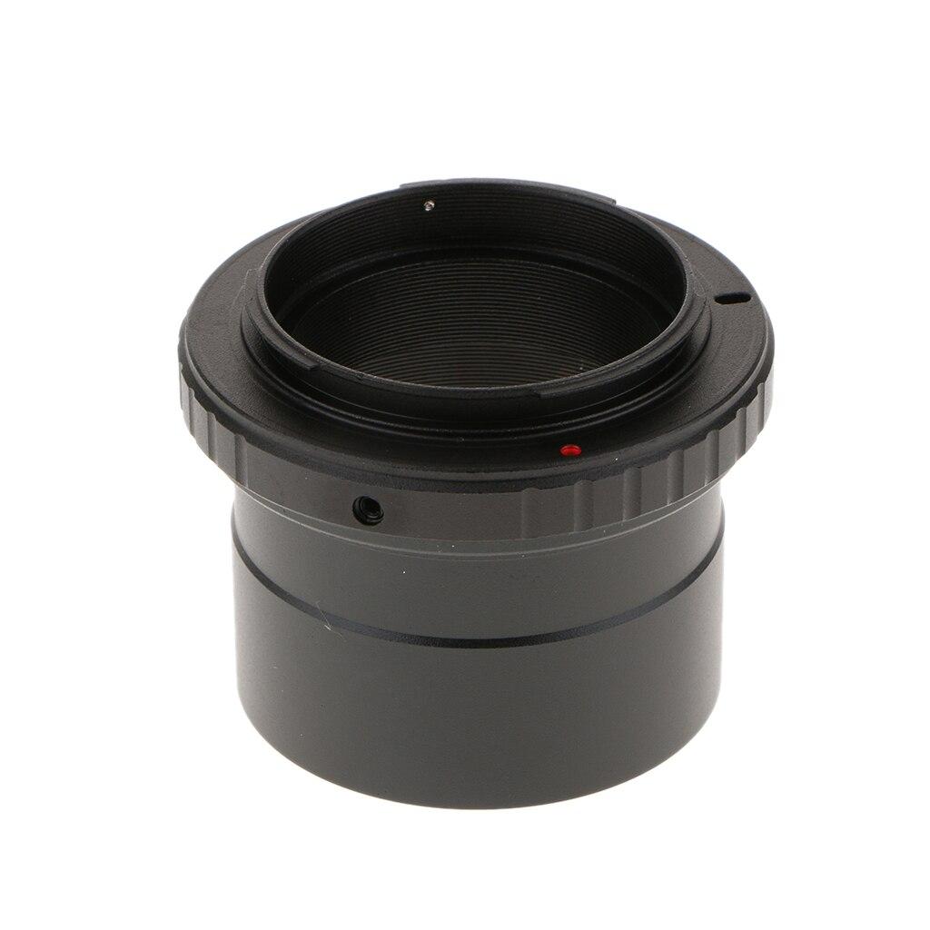 Anillo T para Pentax K lente de cámara + 2 pulgadas a T2 M42 * 0,75 adaptador de montaje de telescopio roscado-Negro