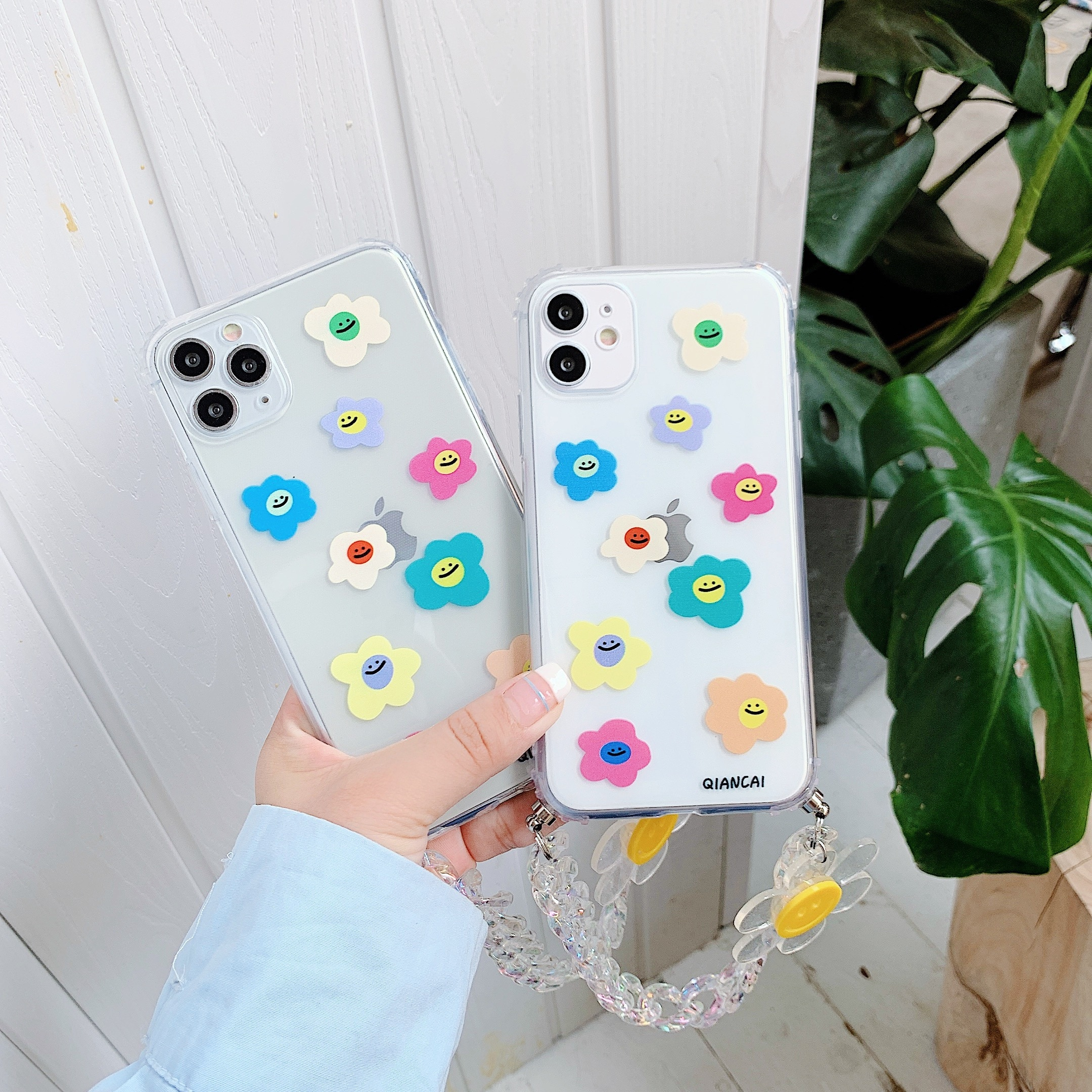 For IPhone 11 Cases Ctue Sunflower Smile Cover  For IPhone 7 8 Plus X Silicone Phone Cover 11 11Pro 12 X XS Max 12 Mini SE 2020
