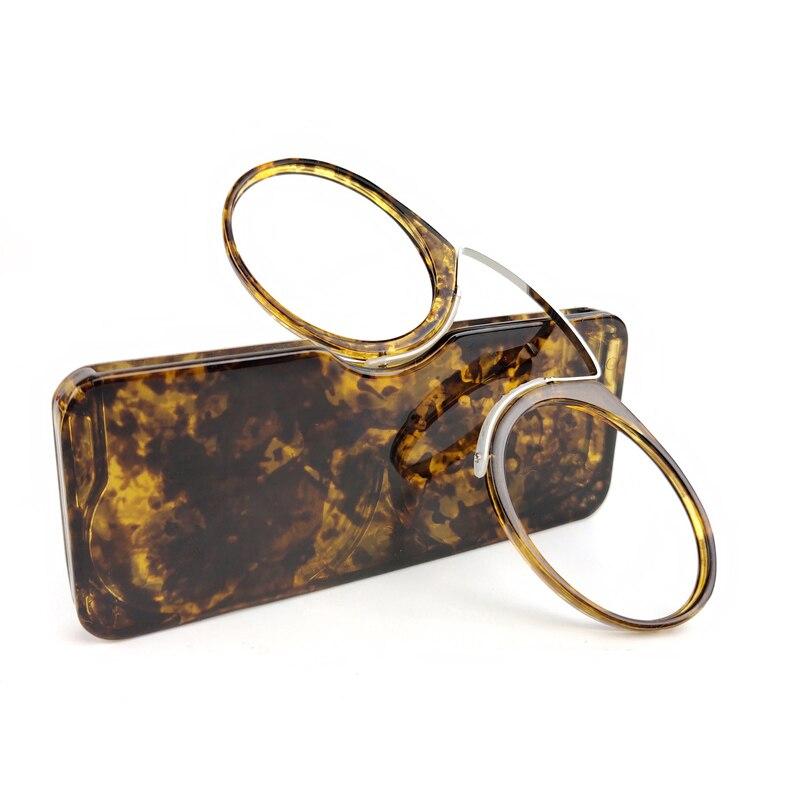 Clip nariz Mini gafas de lectura hombres mujeres gafas graduadas gafas sin brazos pince-nez gafas graduadas
