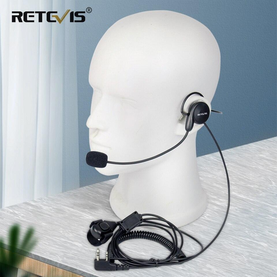 Chape 2Pin talkie-walkie écouteur micro souple casque doigt PTT pour Kenwood BAOFENG UV-5R UV-82 Bf-888s chape H777 RT5