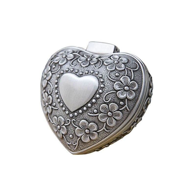 swarovski aila day heart 5242514 Vintage Jewelry Box Antique Heart Shaped Treasure Organizer Classic Heart Shape Metal Gift Box for Valentine's Day  Festivals