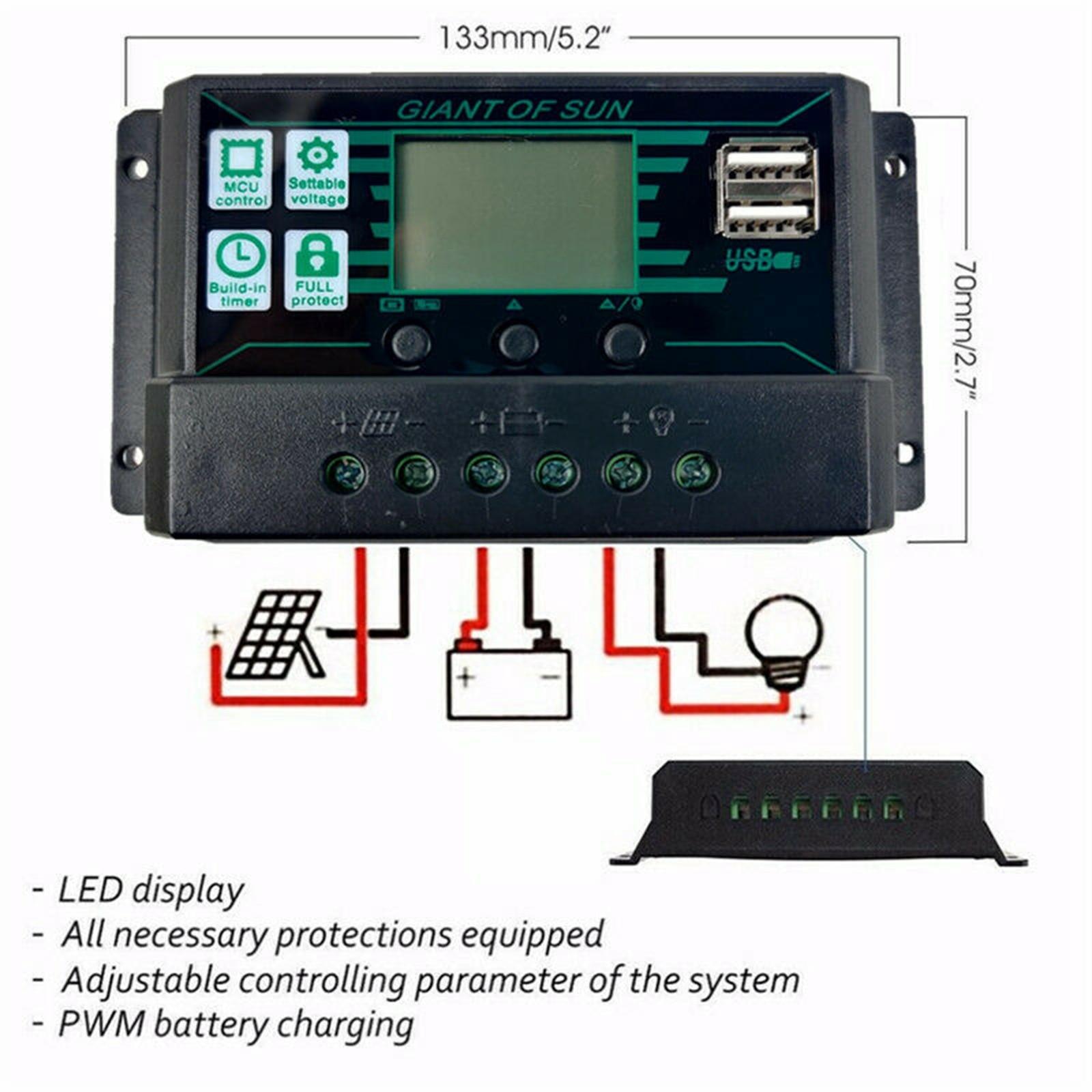 preto 200w painel solar kit 12v controlador de carga da bateria para rv caravana