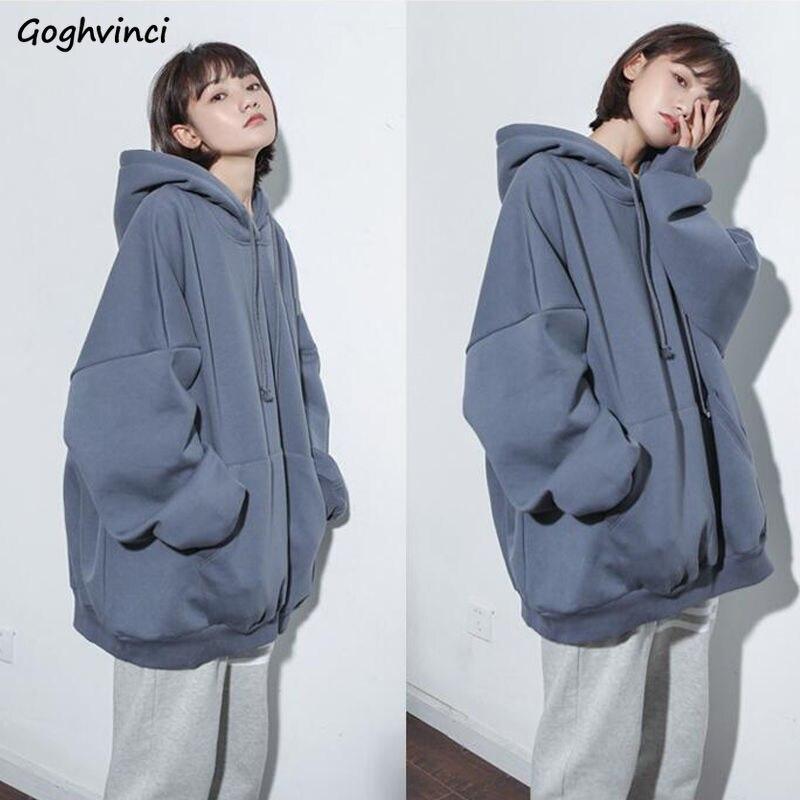 Sudaderas con capucha para mujer, manga de murciélago sólida, 2XL, holgado de talla grande, Chic, Unisex, para parejas, sudaderas Harajuku Hip-hop Ulzzang