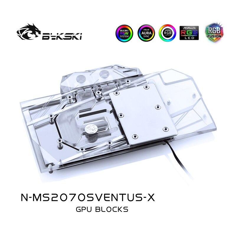 BYKSKI المياه كتلة استخدام ل MSI RTX2070 سوبر 8G OC دعم A-RGB/RGB LED ضوء المبرد كتلة النحاس