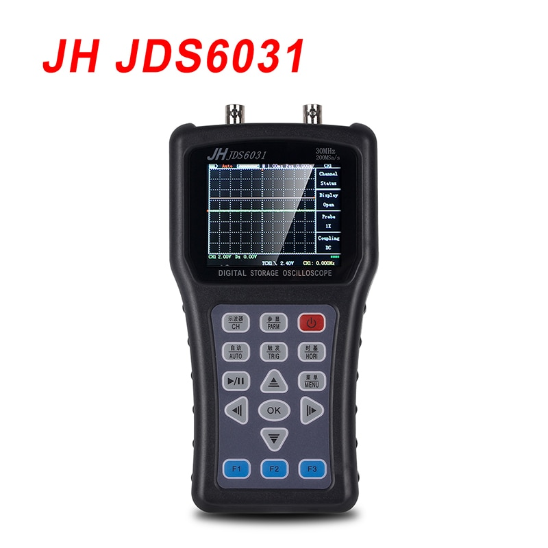 JH JDS6031Hand-Held osciloscopio portátil osciloscopio JDS6031 con 1CH 30M 200MSa/S Digital Strorage osciloscopio