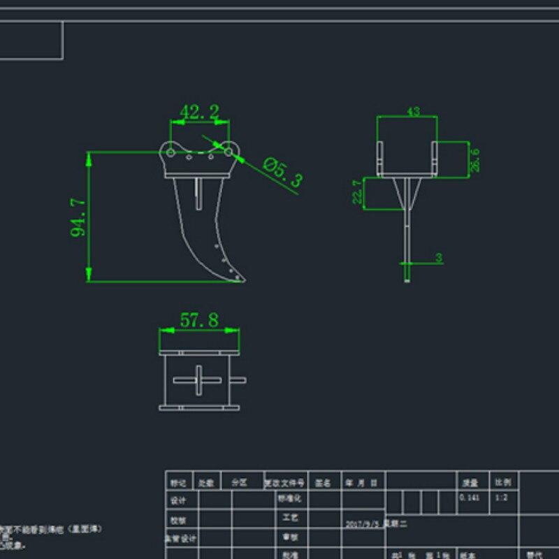 1/12 Excavator Model Accessory-Loose Hook Small Hook Komatsu Caterpillar 336 339 390 enlarge