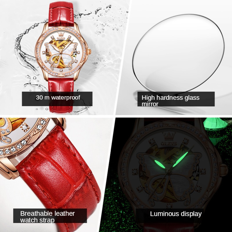 Watch leather strap waterproof automatic mechanical watch ladies watch ladies watch enlarge