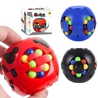 2021 rotating magic bean fidget toys for anxiety desk toy stress relief autism infinity cube sensory toys kids toy adult toys