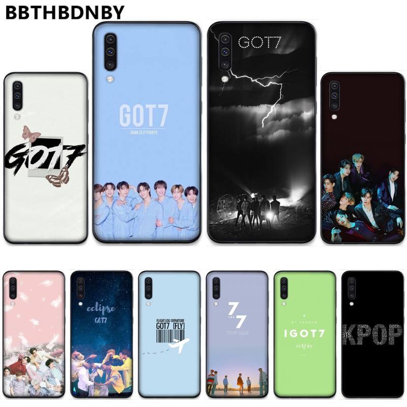 Grupo de chicos Kpop GOT7 suave silicona TPU teléfono cubierta para Samsung A20 A30 30s A40 A7 2018 J2 J7 prime J4 Plus S5 Note 9 10 Plus