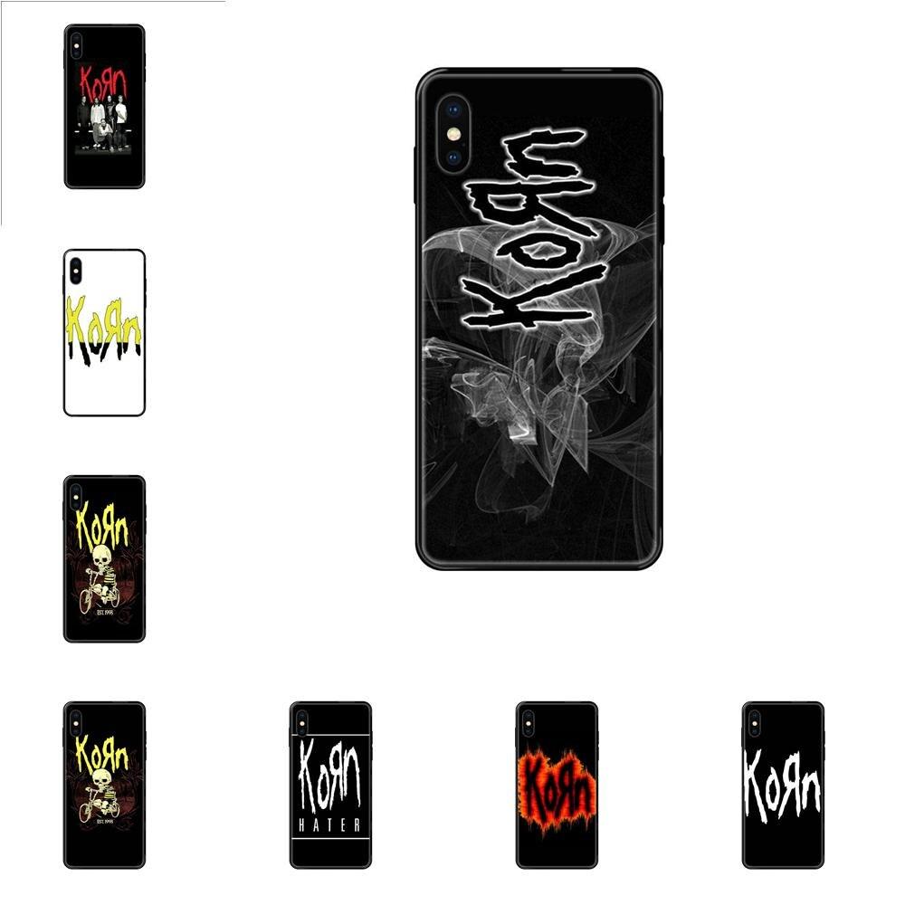 Для Apple iPhone 11 12 Pro 5 5S SE 5C 6 6S 7 8X10 XR XS Plus Max мягкие чехлы винтажные Ретро рок-группы Korn логотип