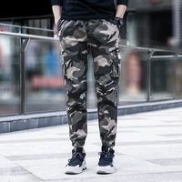 summer new camouflage cargo pants men 2020 slim fit army green casual pant man hip hop streetwear jogger pants men trousers 4xl