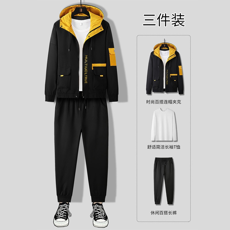 Новый тренд осени сочетается с красивым набором повседневных курток, курток для инструментов, мужские костюмы, костюмы-тройки, толстовки