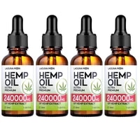 LAGUNAMOON 2 3 4pcs Organic Natural Hemp Seed Oil  Essential Oil 240000MG Extract 30ML Base Message Oil For Reduce Stress Anxiety